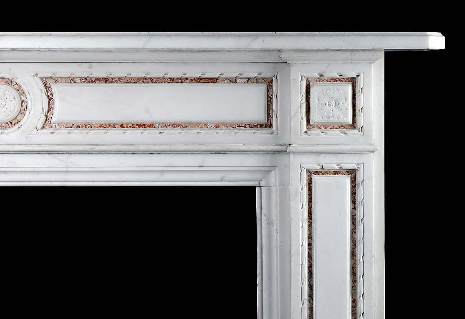 One of a Pair of English Regency Statuary Marble Chimneypieces
