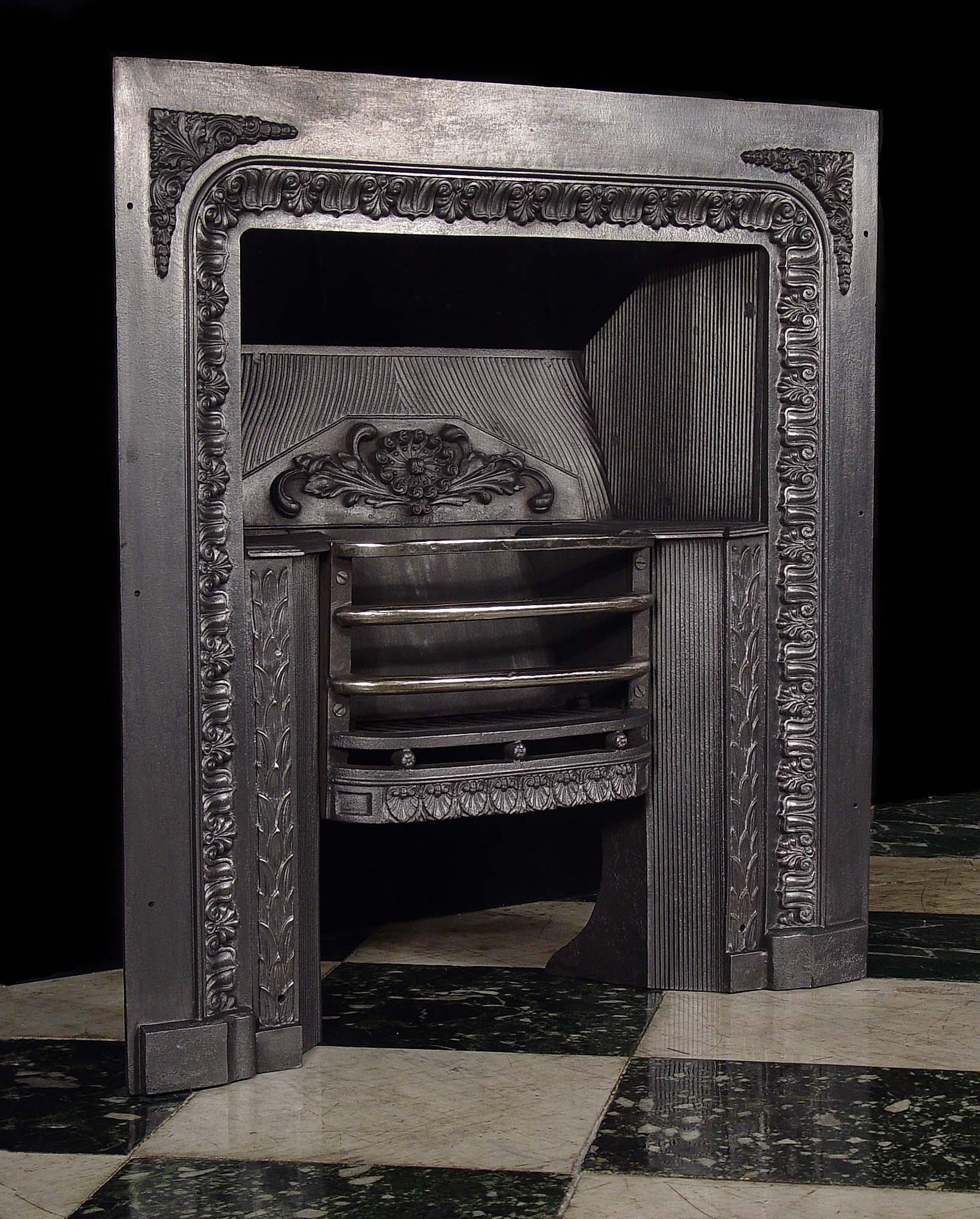 Antique English Victorian Fireplace Insert