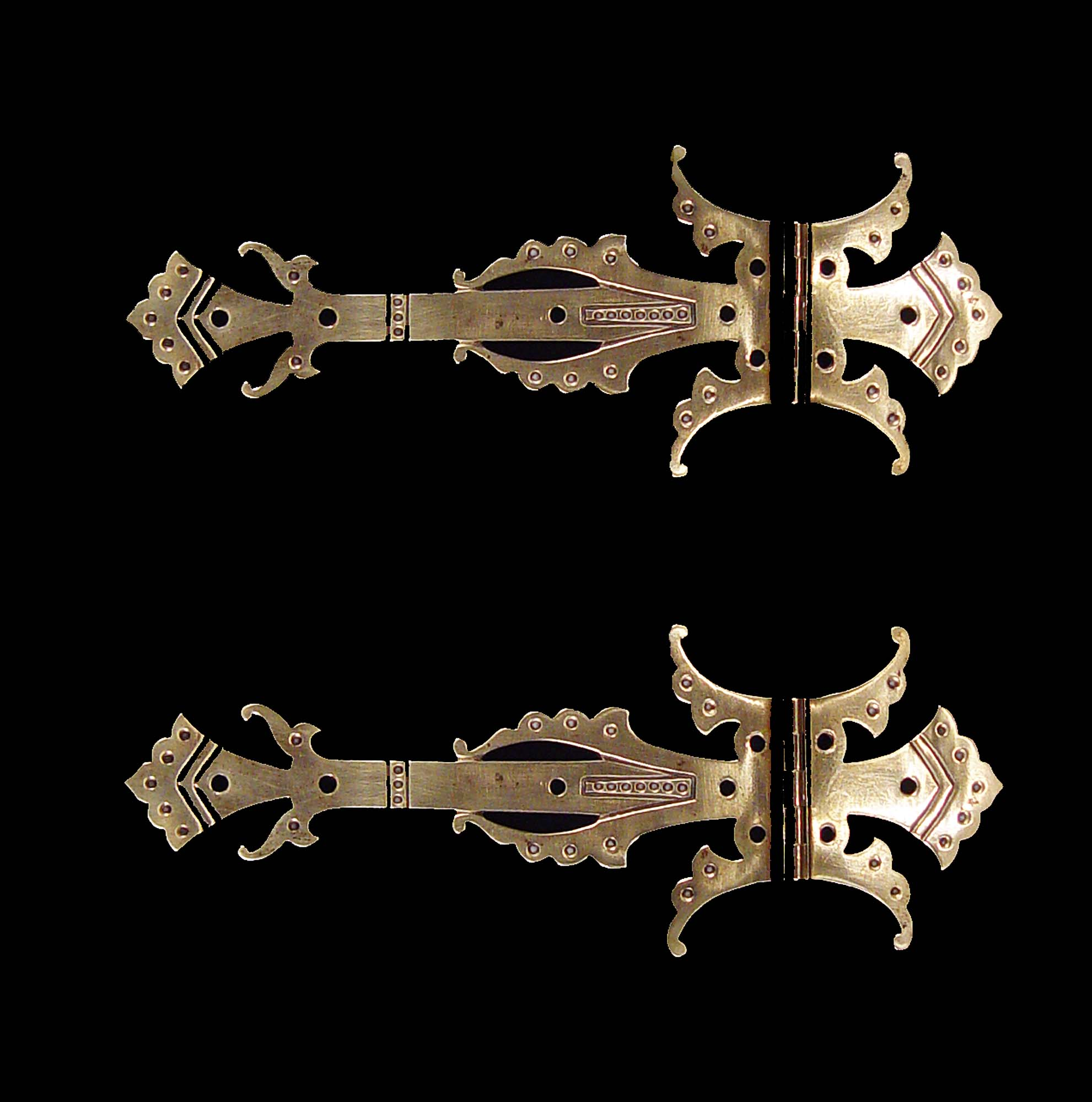 Pair of Antique Gothic Revival Door Hinges