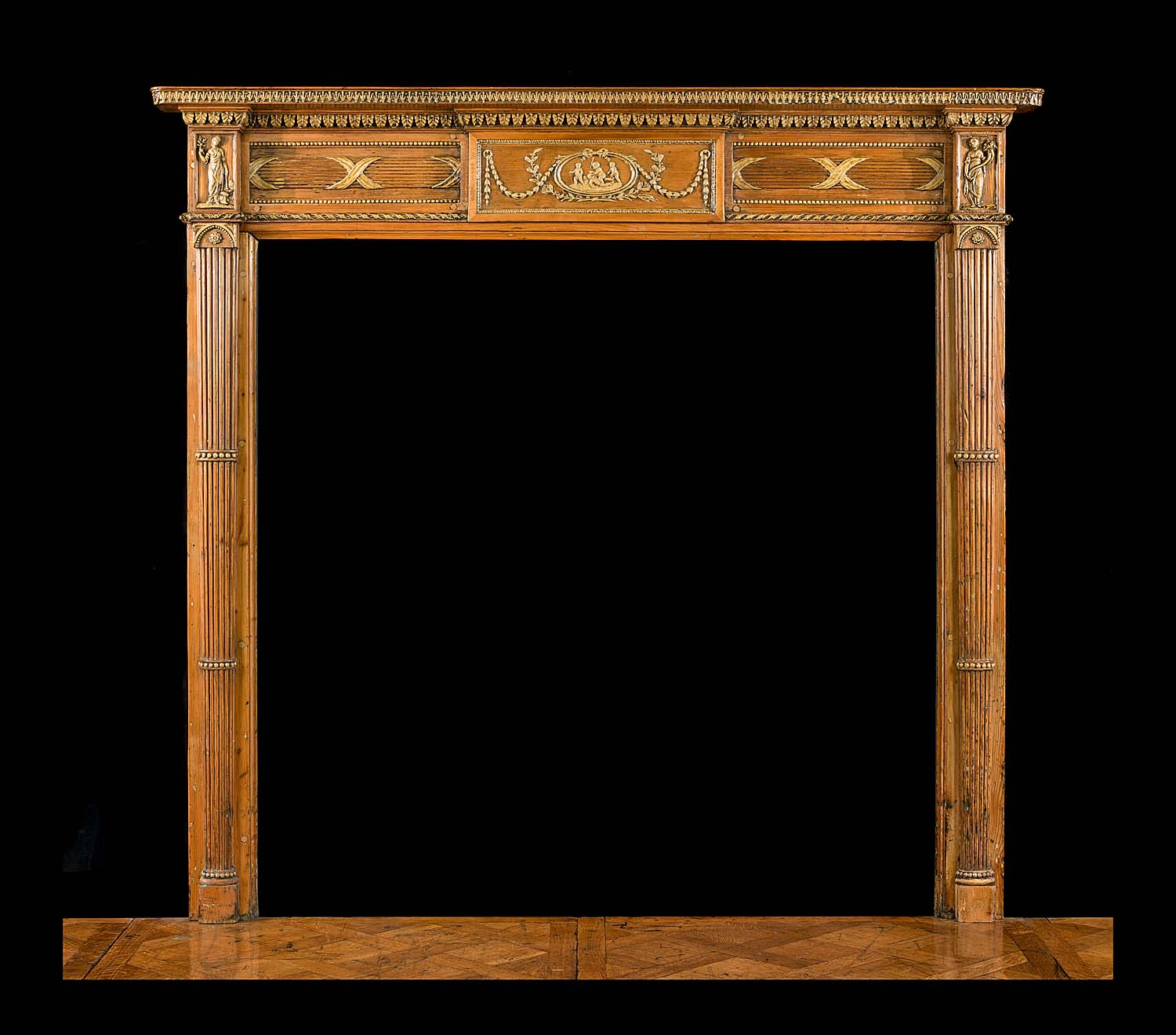 Early 19th century Pine & Gesso Georgian style Chimneypiece