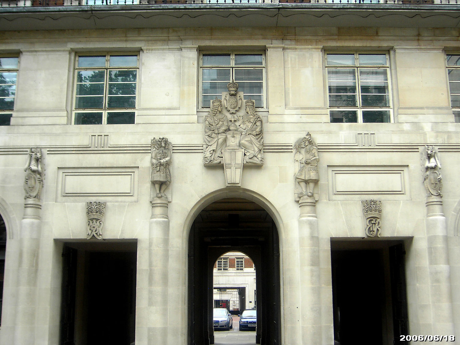 A Portland Stone sculpture from the Bank of England Annexe