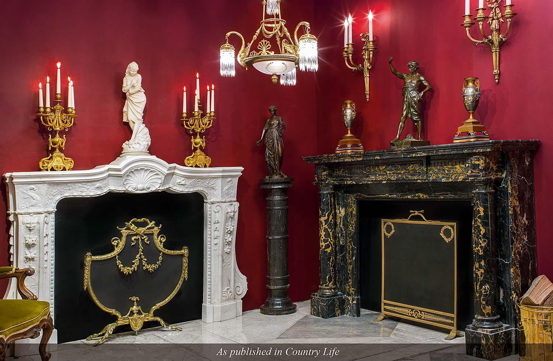 Italian Baroque White Marble Fireplace Westland London