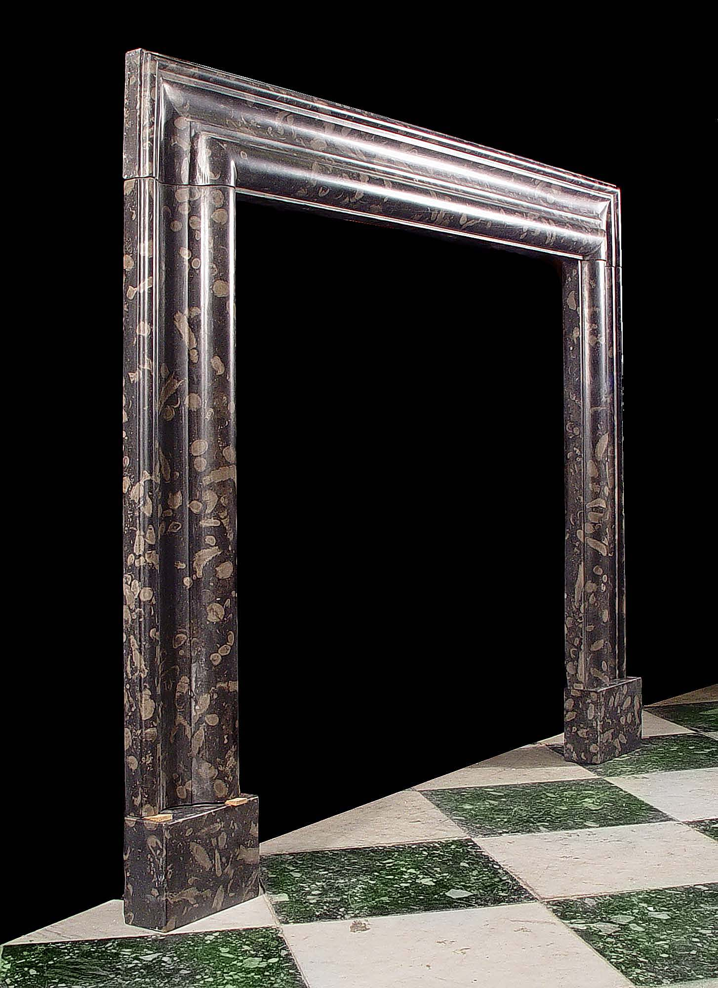 Antique Frosterly Bolection fireplace in Marble