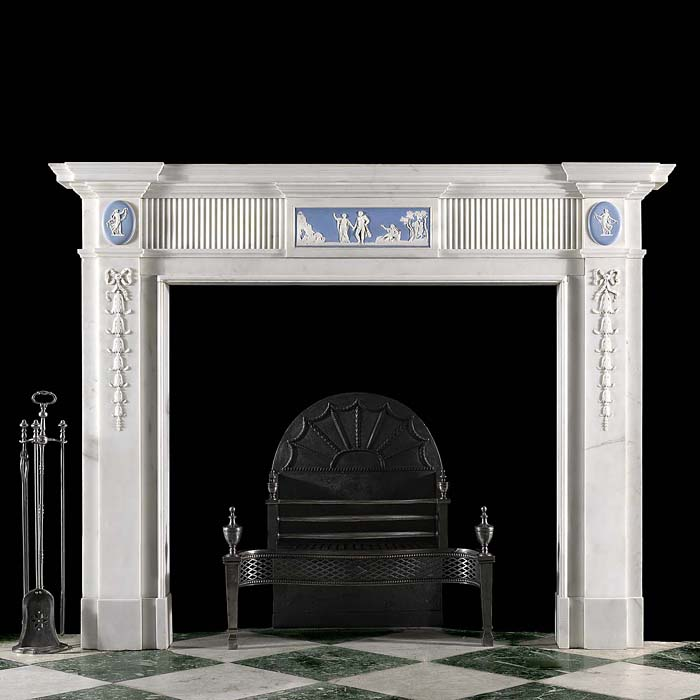 English Wedgewood Marble Fireplace Surround Westland London