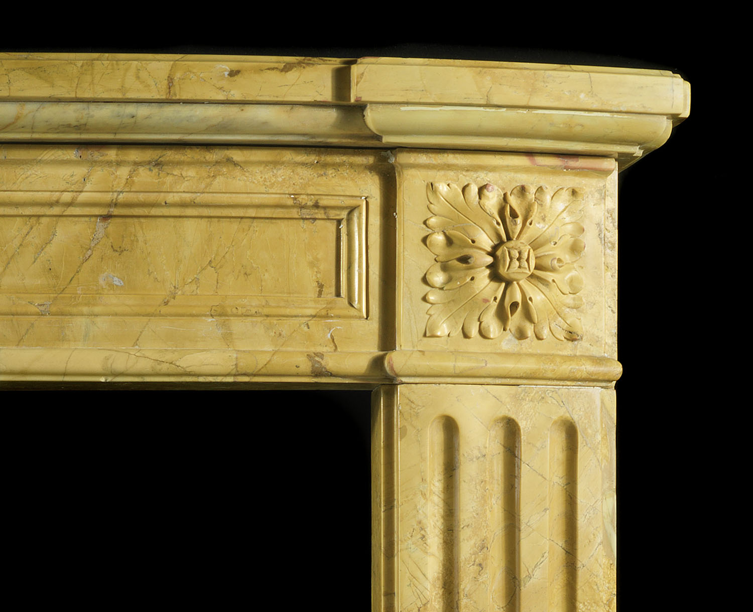 Sienna Marble French Louis XVI Chimneypiece