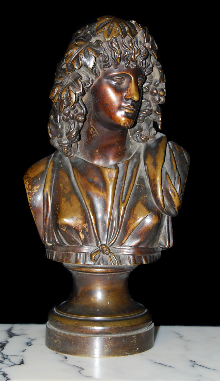 Bronze Bust Dionysus Victorian God | Westland London