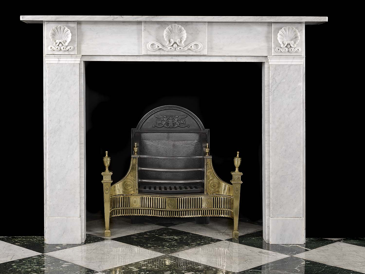 Victorian Small White Marble Fireplace Mantel