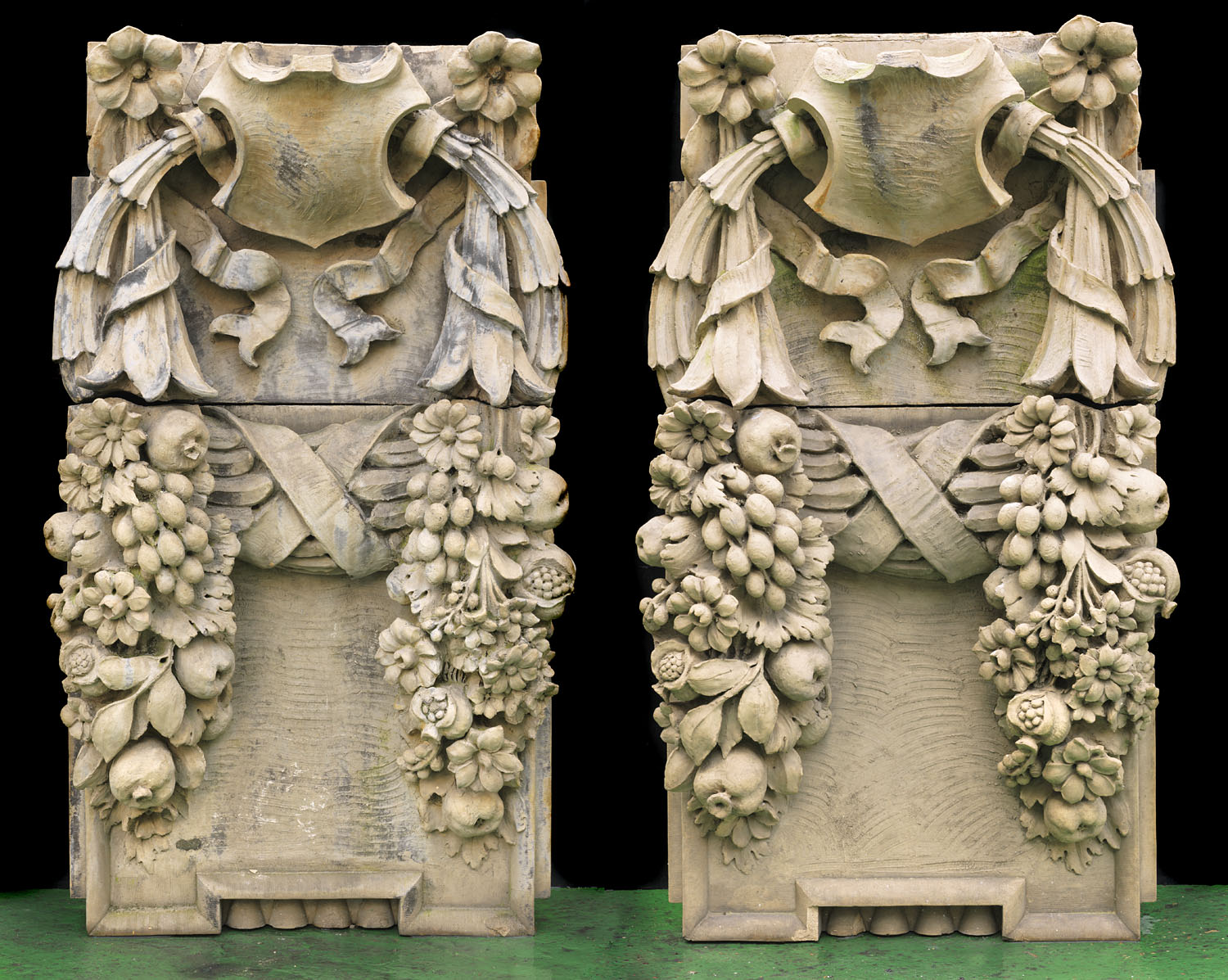 A pair of terracotta wall Sculptures