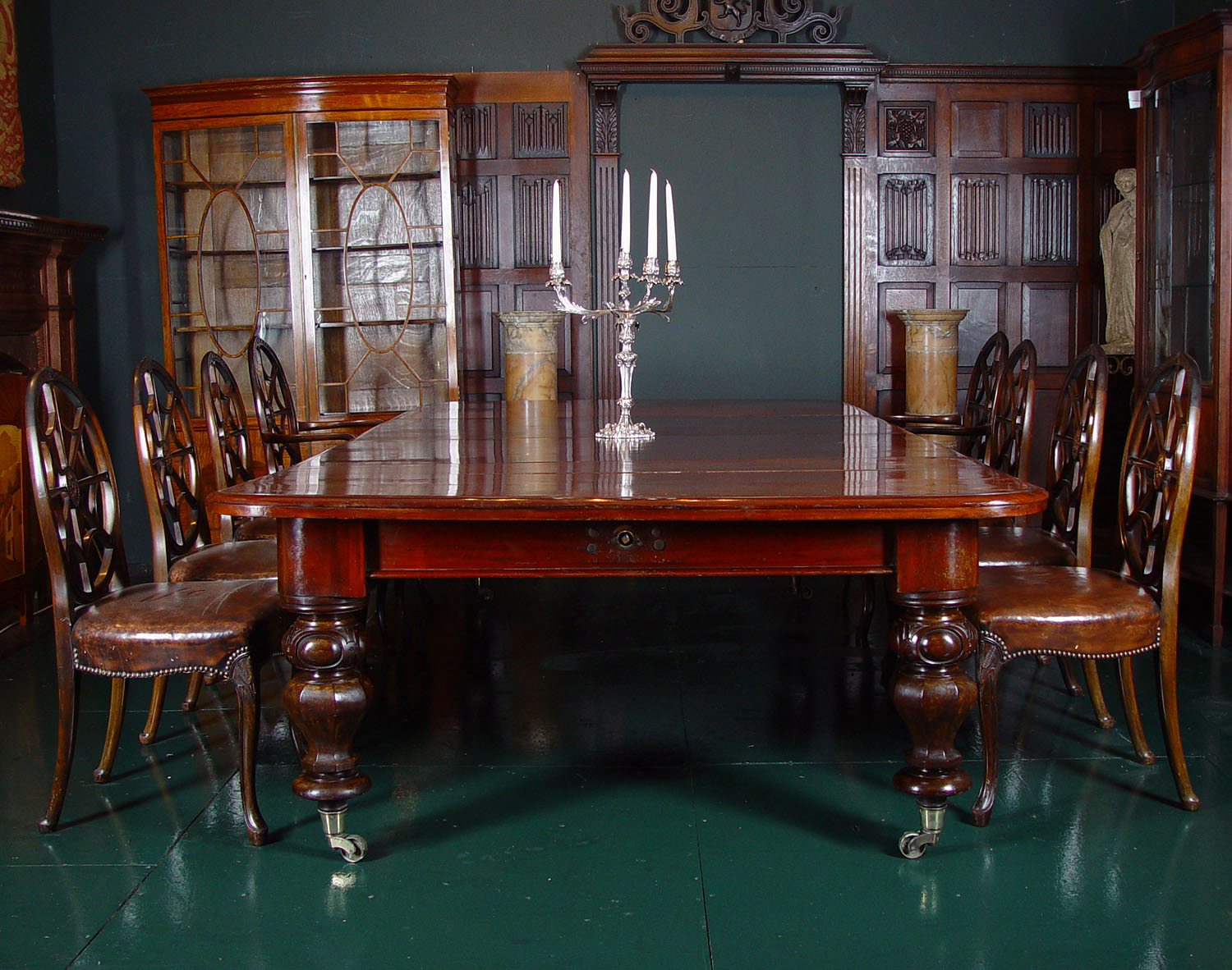 Regency Mahogany Large Dining Table Westland London