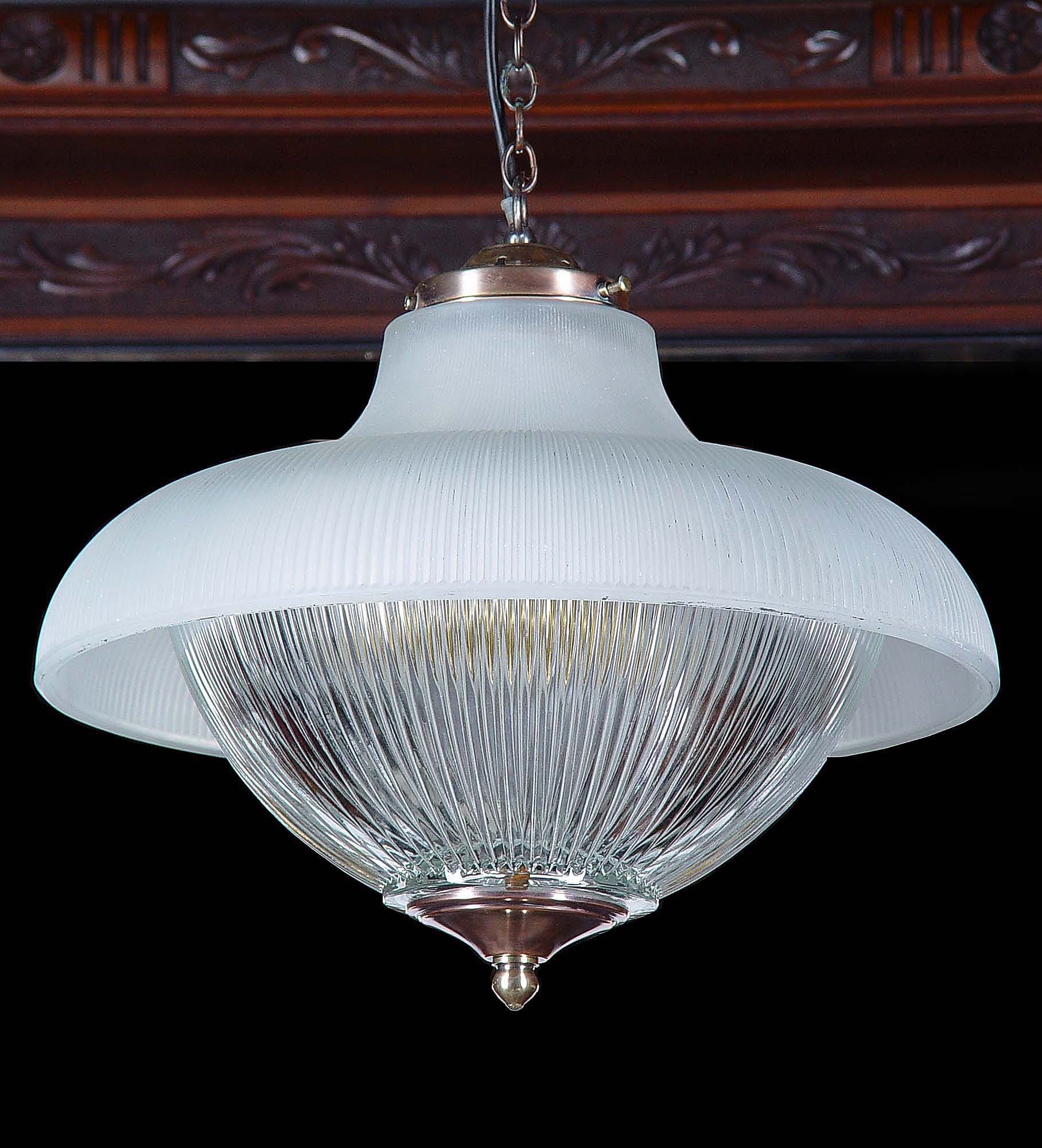 Art Deco Ceiling Light Fluted Shade Westland London