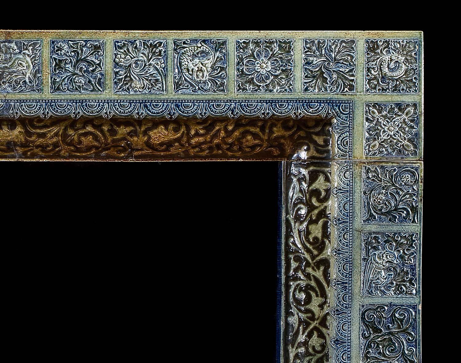 Martinware ceramic fireplace surround