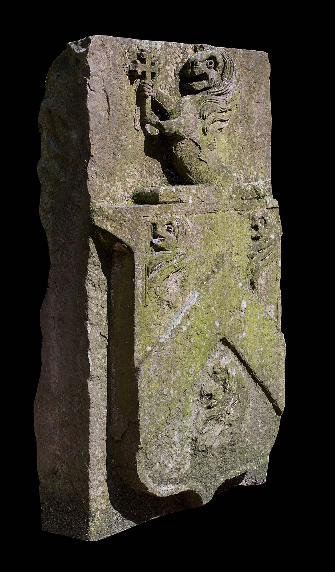 Antique Stone Heraldic Wall Tablet Westland London