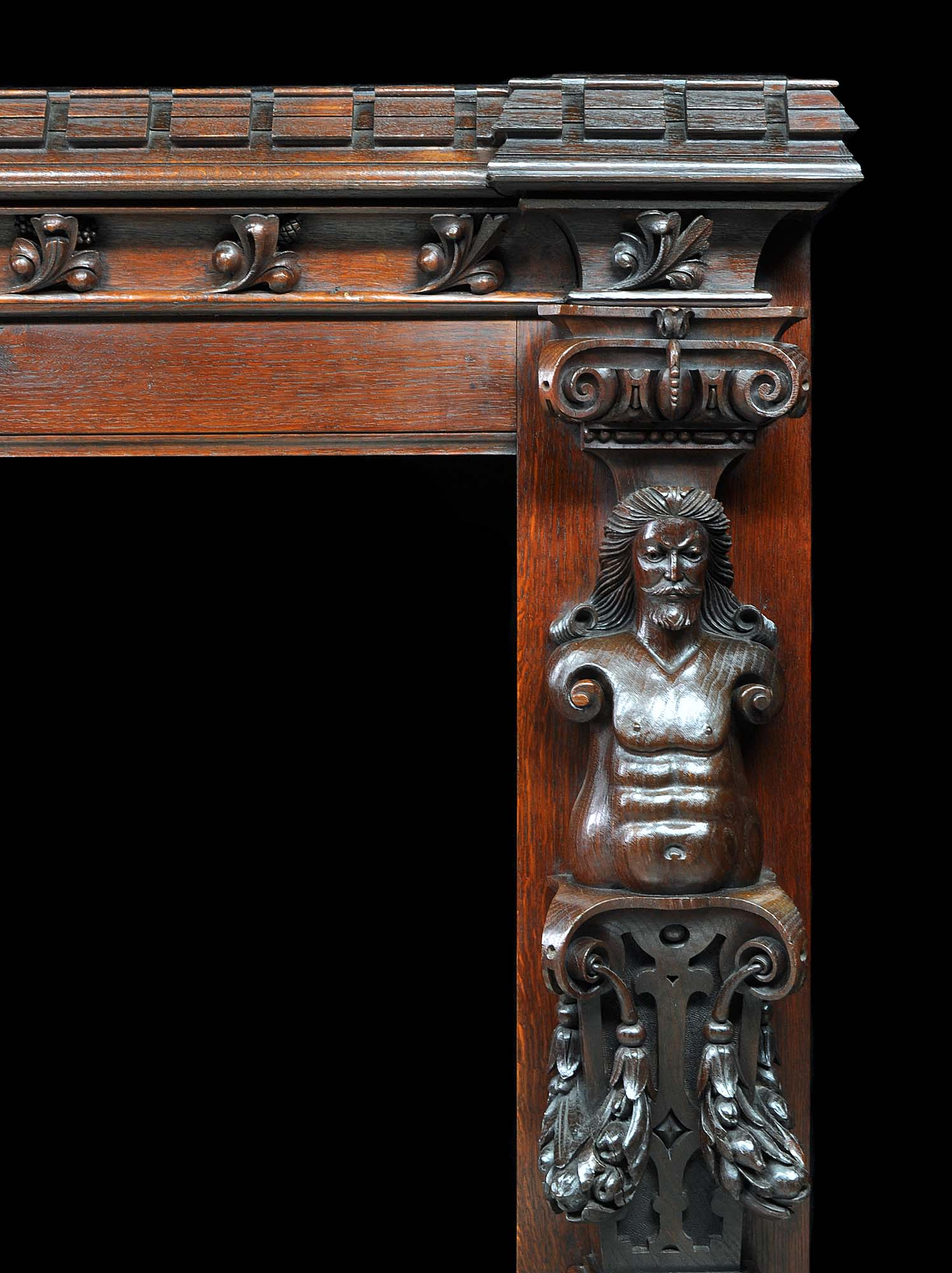 Jacobean Style Antique Oak Fireplace Westland Antiques