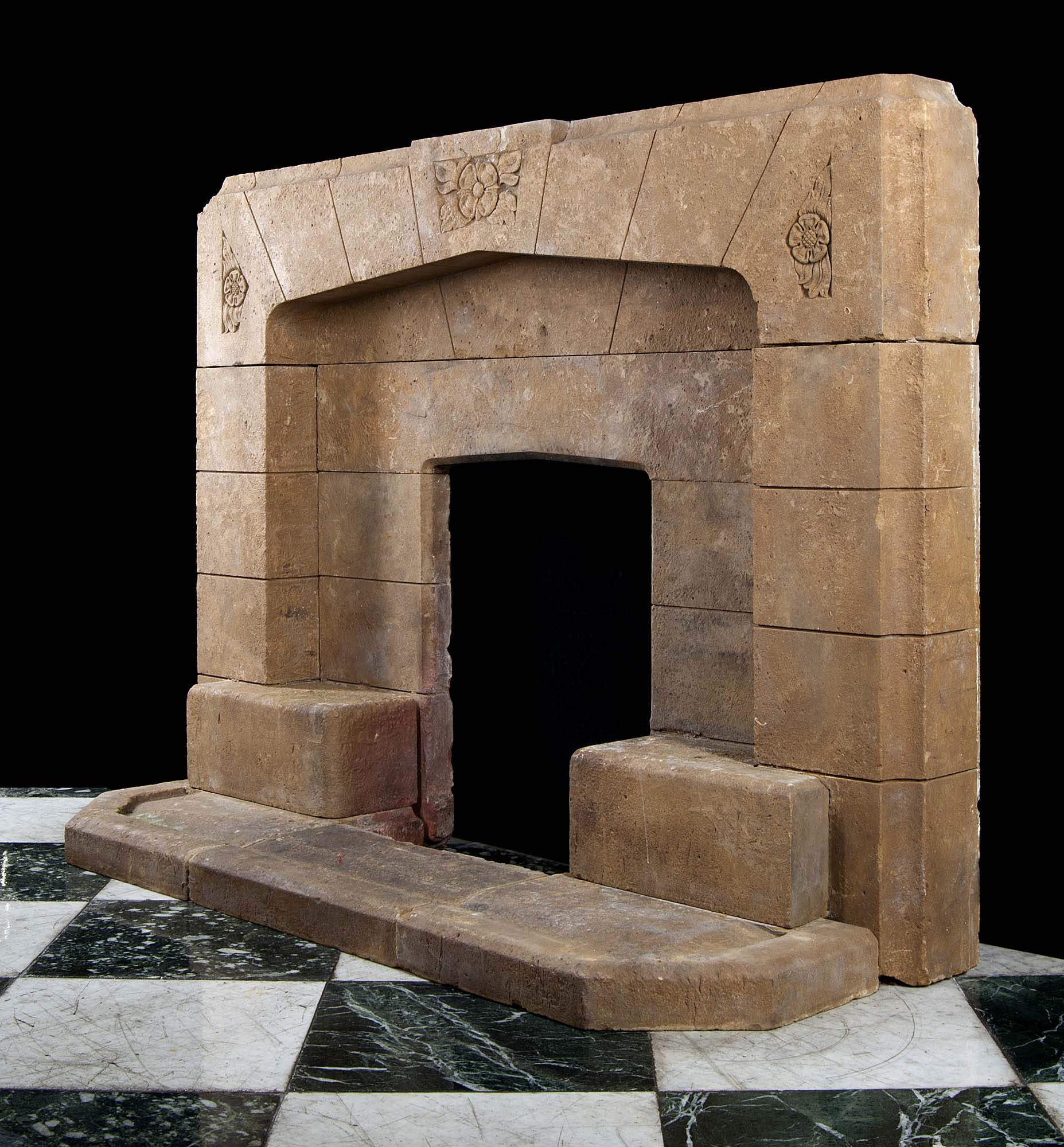 Art Deco Horton Stone Fireplace Mantel Westland London