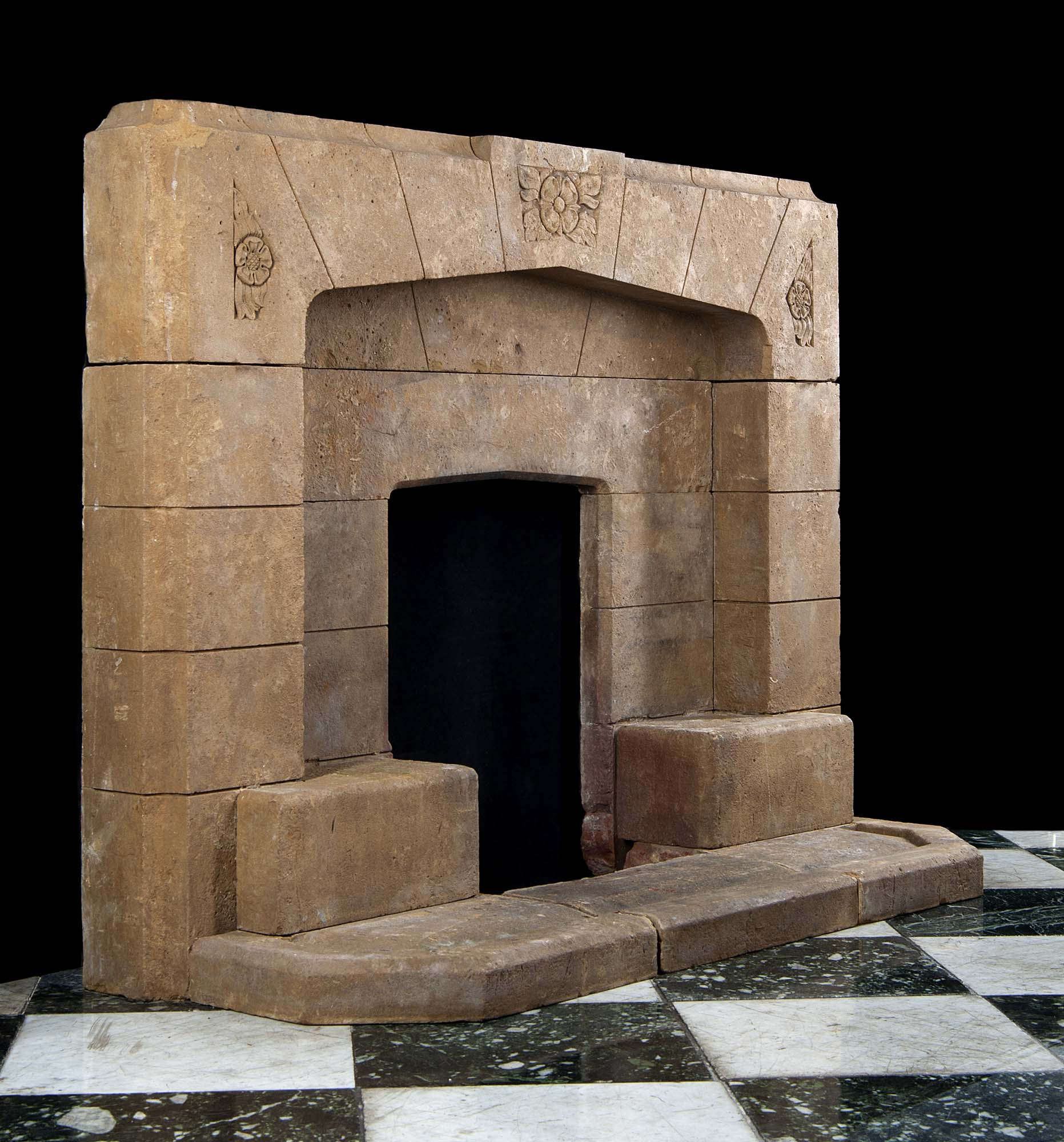 Stone Garden Wall >> Art Deco Horton Stone Fireplace Mantel | Westland London