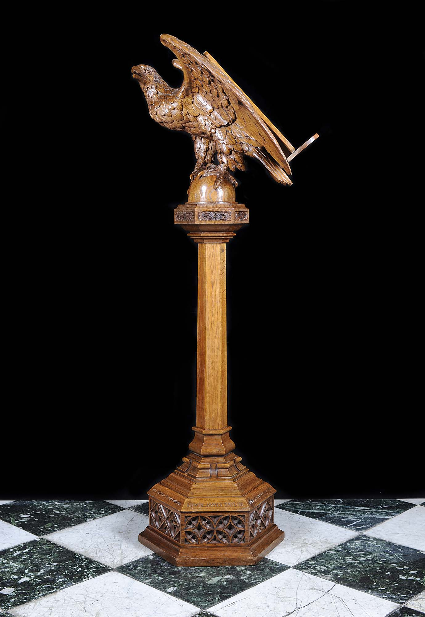 Art Deco Wood Eagle Oak Antique Lectern Westland London
