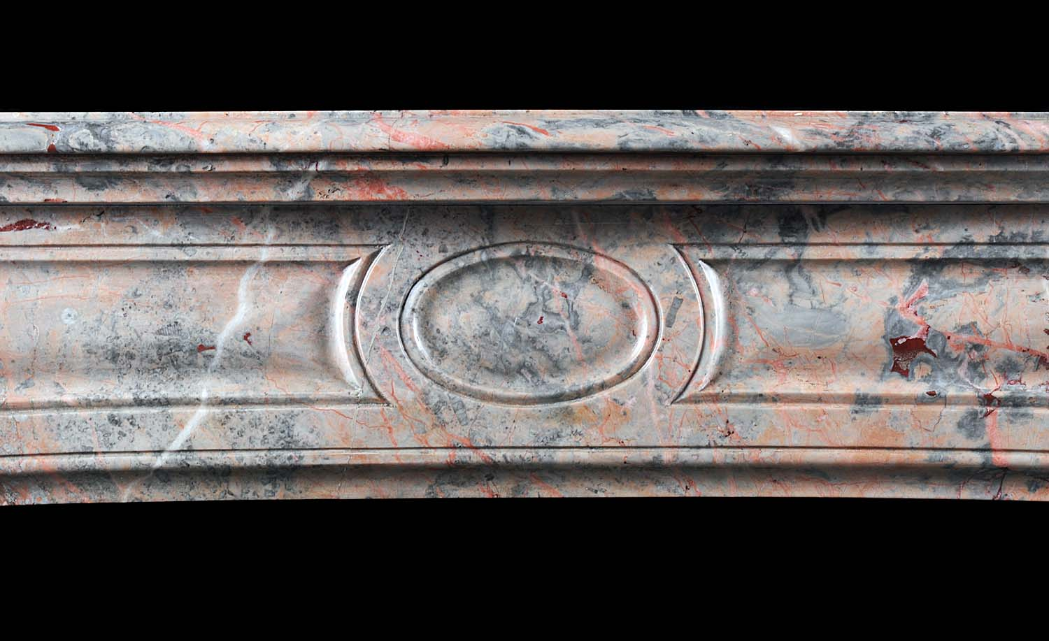 A Small French Pompadour Louis XV style Antique Fireplace Surround
