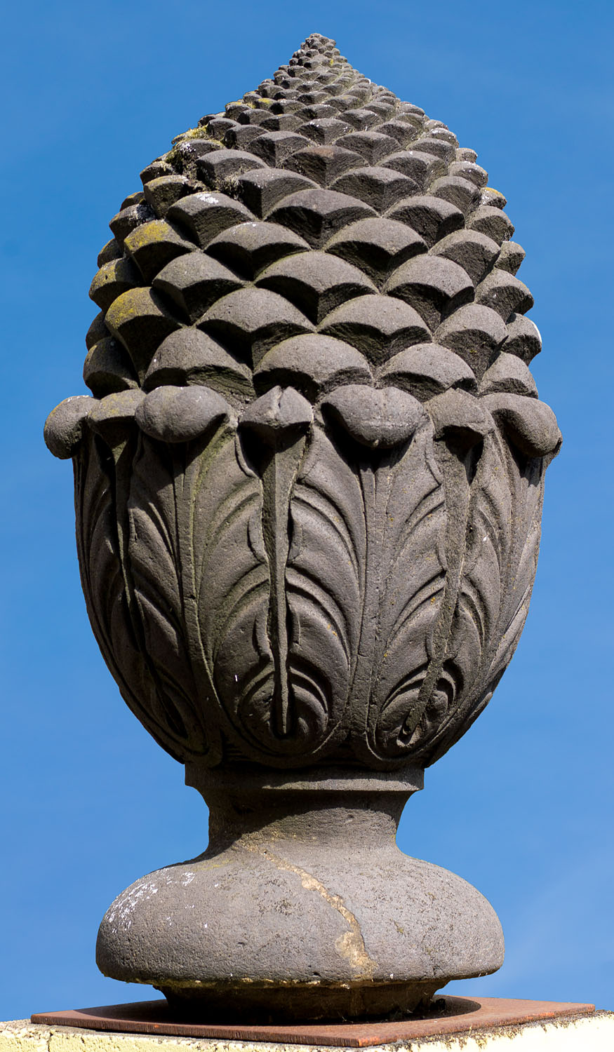 Monumental pair of Pomme de Pin gatepost finials.