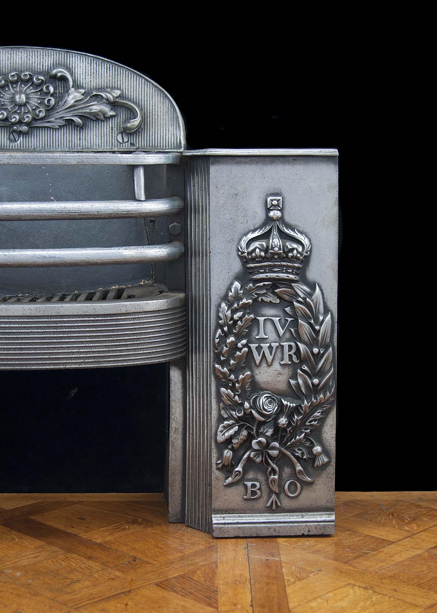William Iv Thistle Shamrock Antique Hob Grate Westland