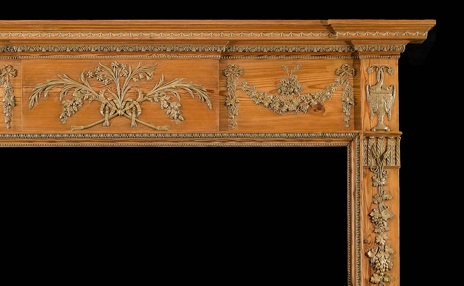 A Late Georgian style Antique Pine Fireplace Surround