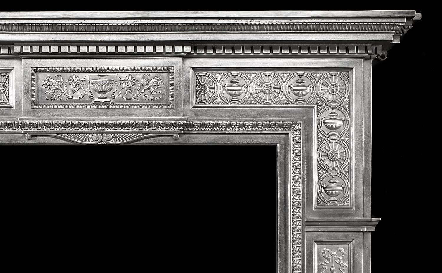 A fine large Victorian cast iron Chimneypiece