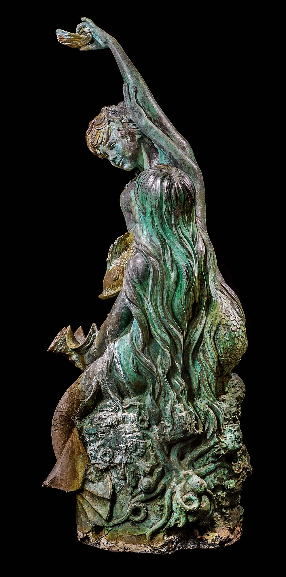 A Bronze Fountain attributed to David Rawnsley (1909-1977)