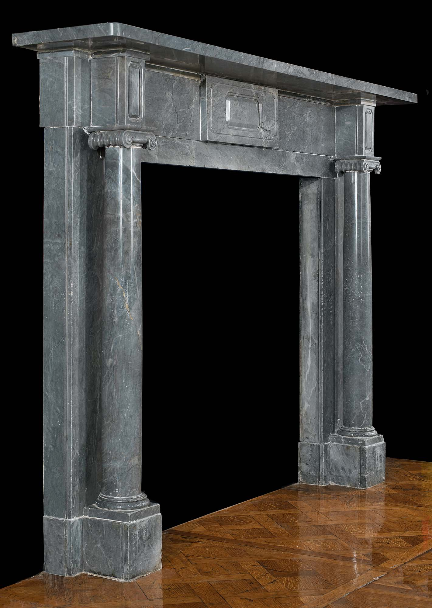 A Bardiglio Marble Regency antique Fireplace Surround