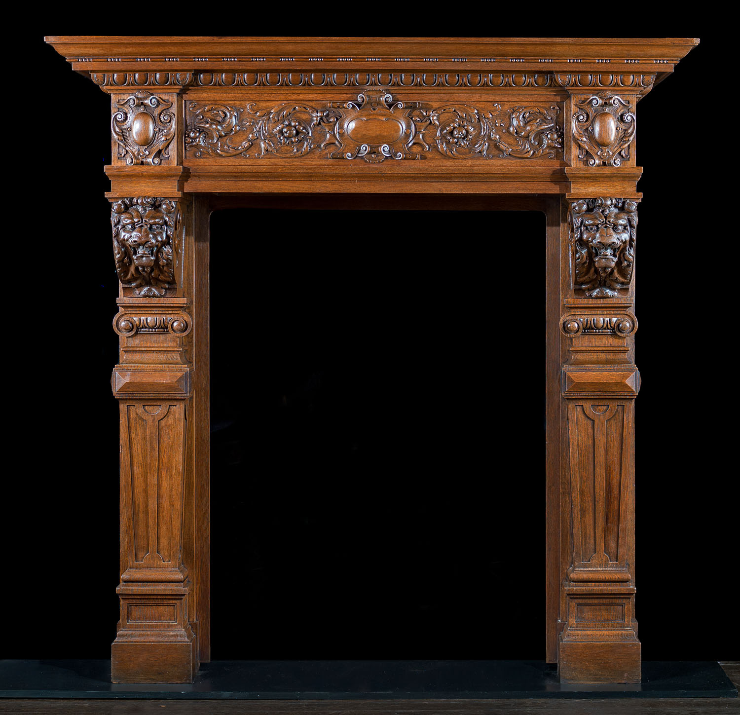 Baroque Antique Wood Fireplace Mantel Westland Antiques