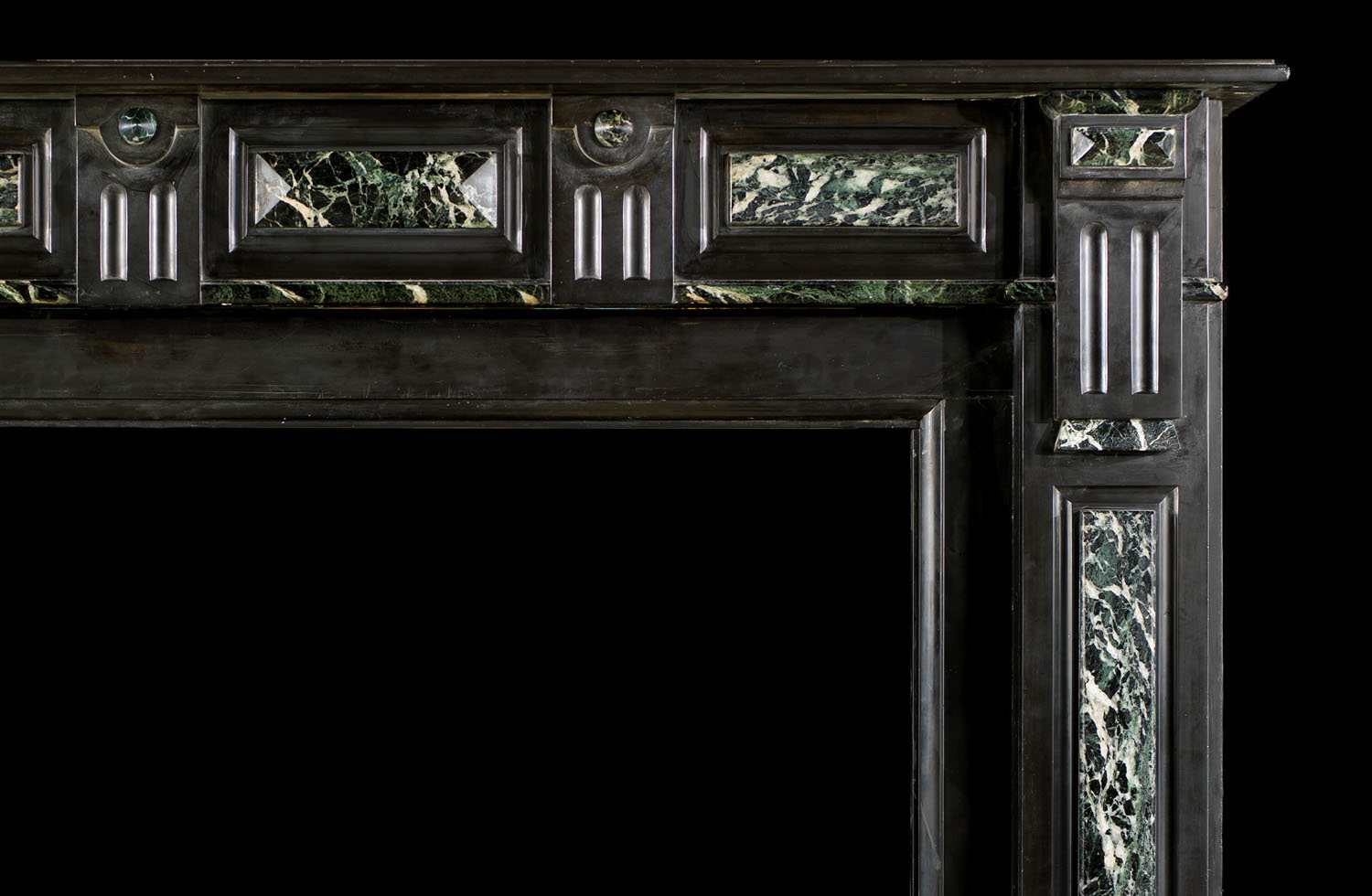 Belgian Black And Green Marble Fireplace Westland Antiques