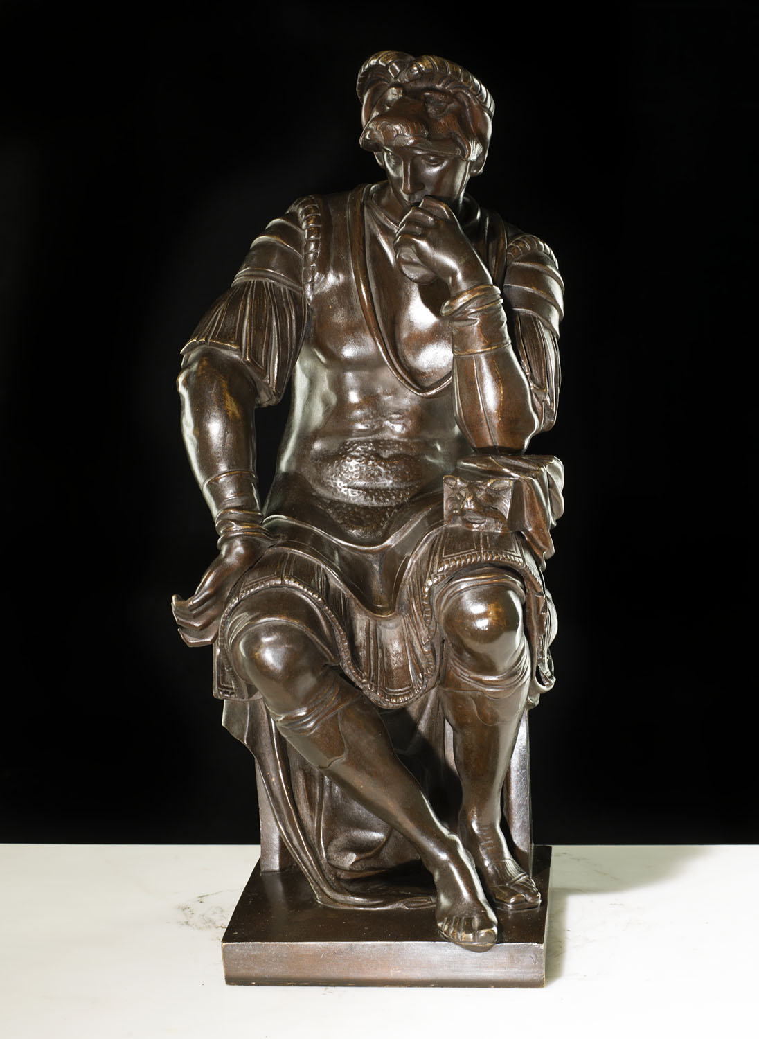 An antique patinated  bronze of Lorenzo de Medici