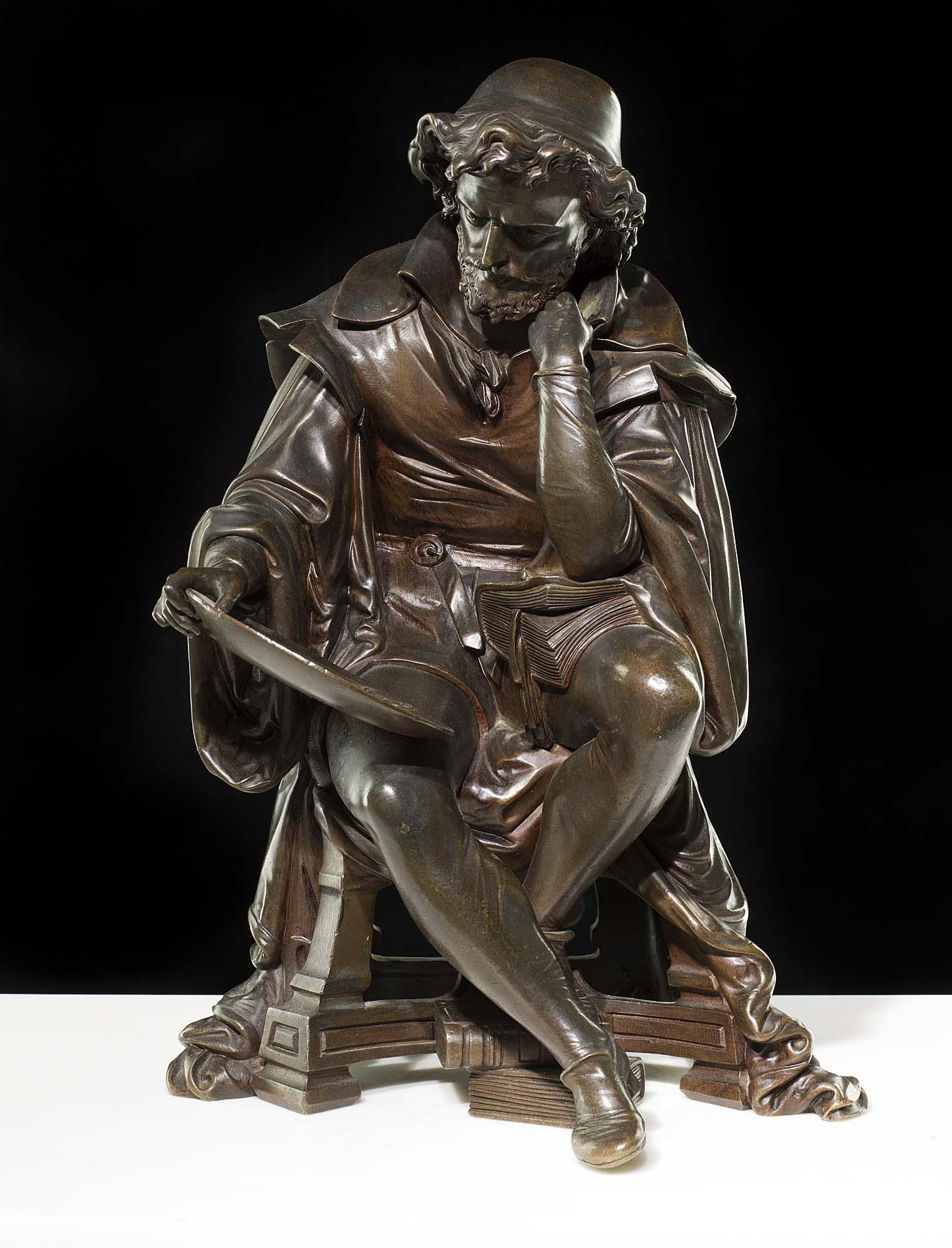 Antique Bronze Model Leonardo Da Vinci Westland Antiques