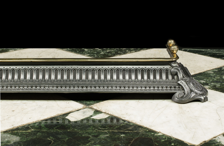 Brass Mounted Victorian Fireplace Fender Westland London
