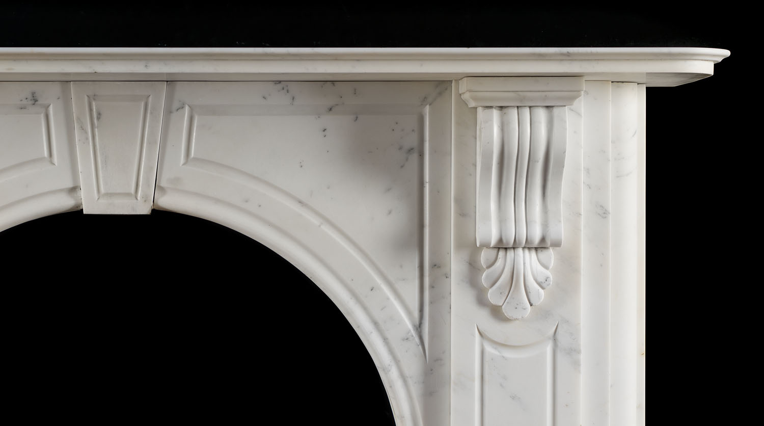 Large White Marble Antique Victorian Fireplace Westland