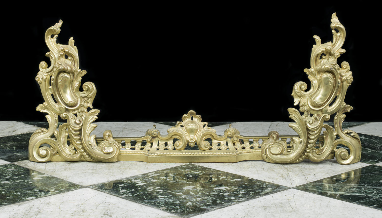 Rococo Brass Fireplace Fender Westland London