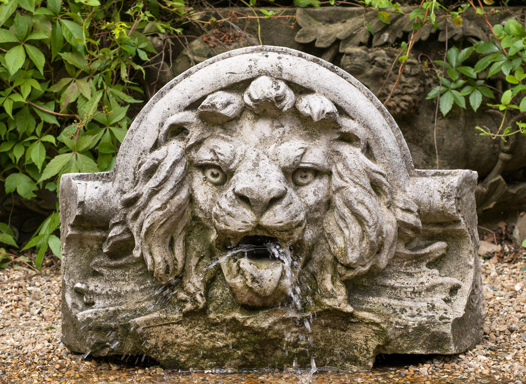 Portland Stone Lion Fountain Head