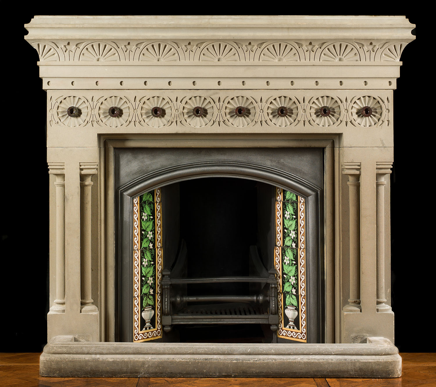 Large Victorian Stone Fireplace Mantel Westland Antiques