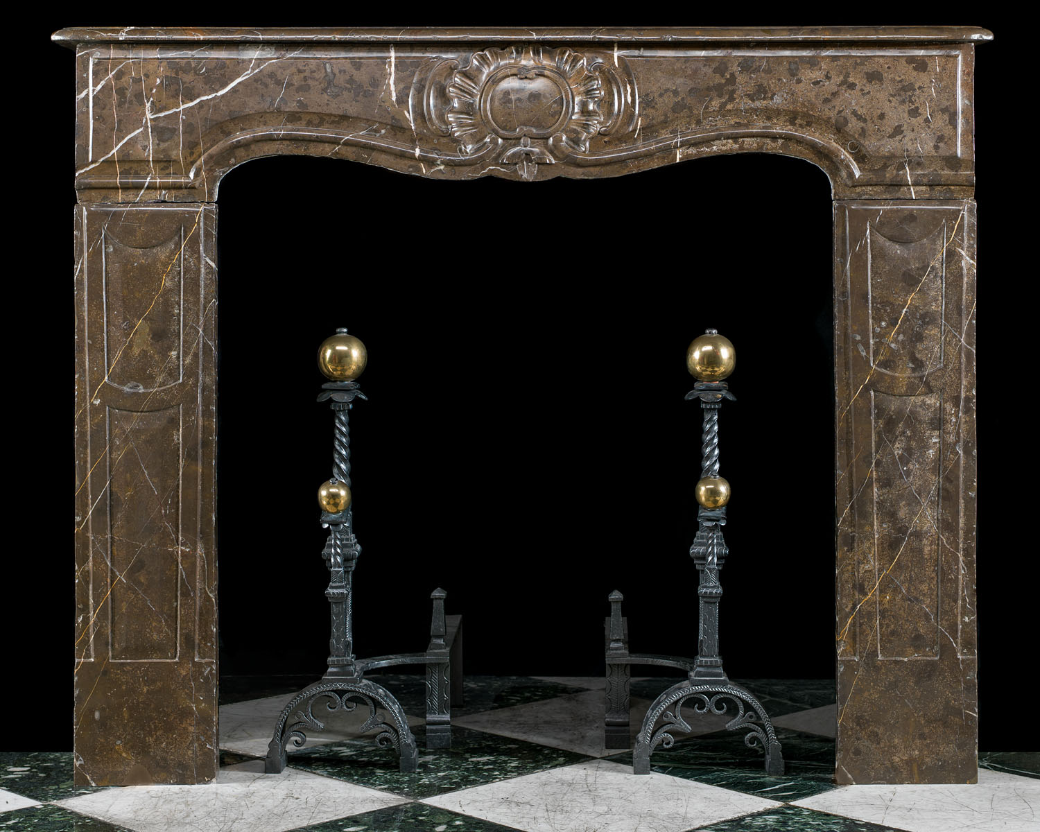 A French Rococo antique marble fireplace surround