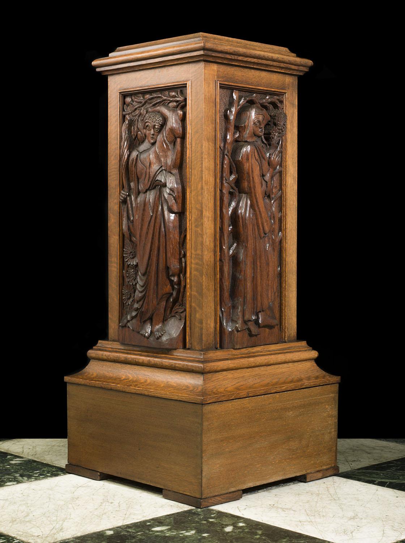 Arts Amp Crafts Oak Pedestal Westland London