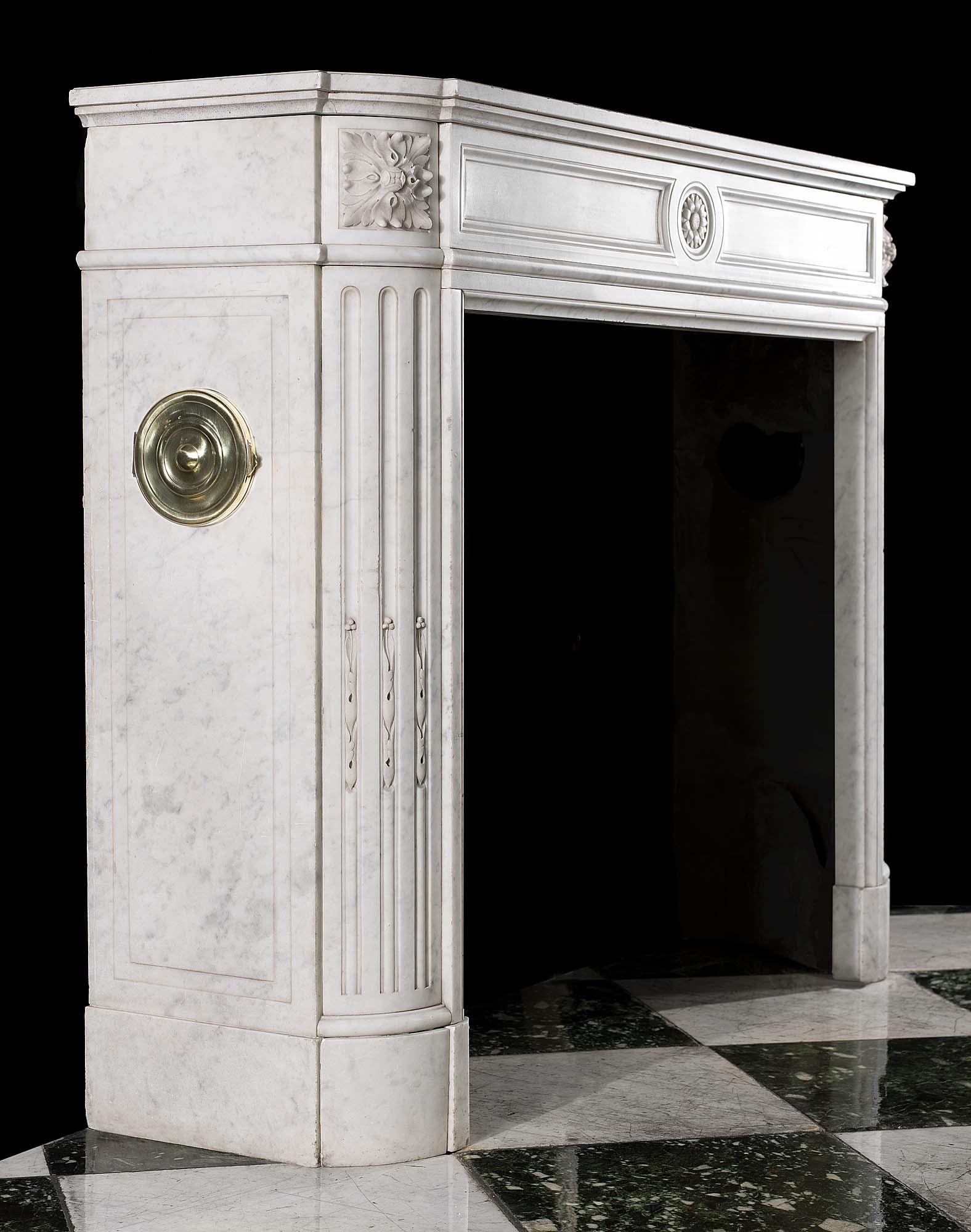 White Marble Louis Xvi Antique Fireplace Westland London