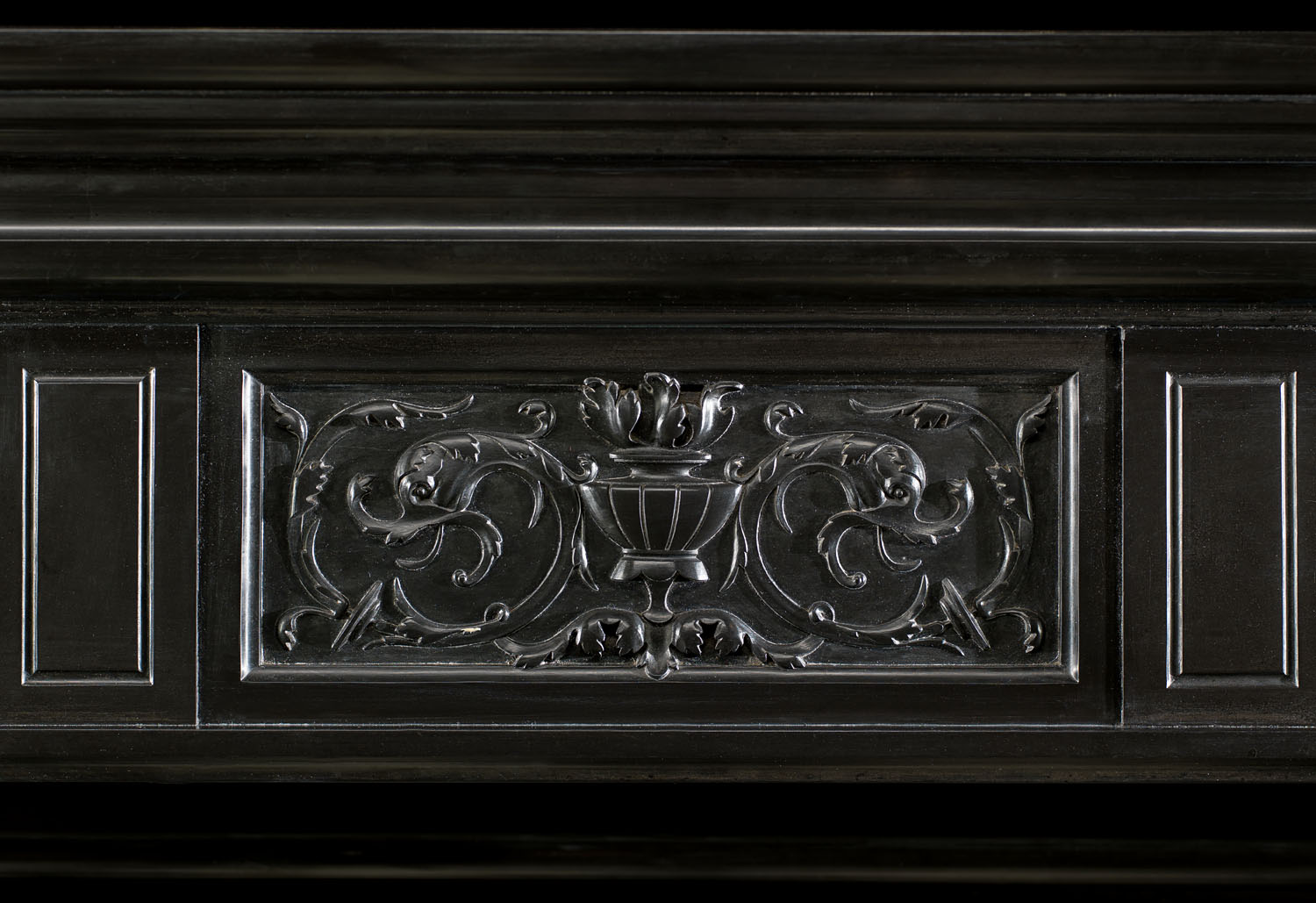A Flemish Black Marble Antique Chimneypiece