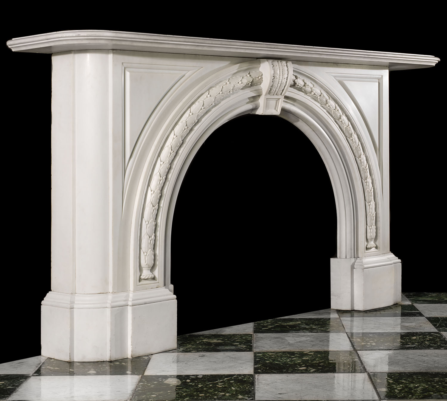 Arched White Marble Victorian Fireplace Westland Antiques
