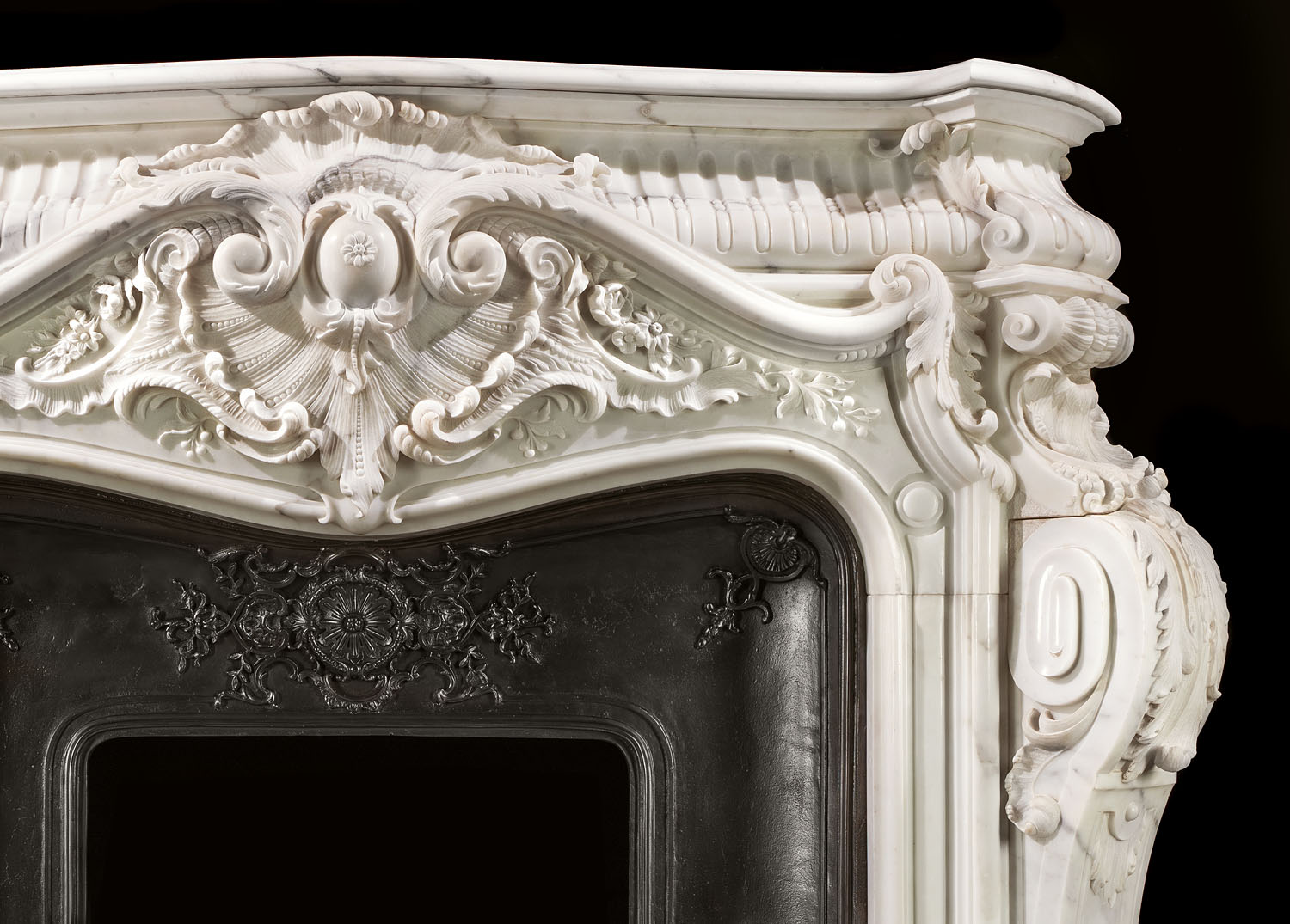 Rococo Baroque Antique Marble Fireplace Westland London