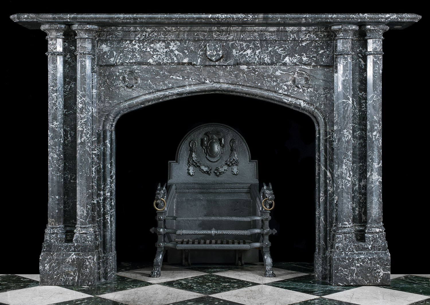 Saint Anne Marble Victorian Gothic Fireplace Westland London