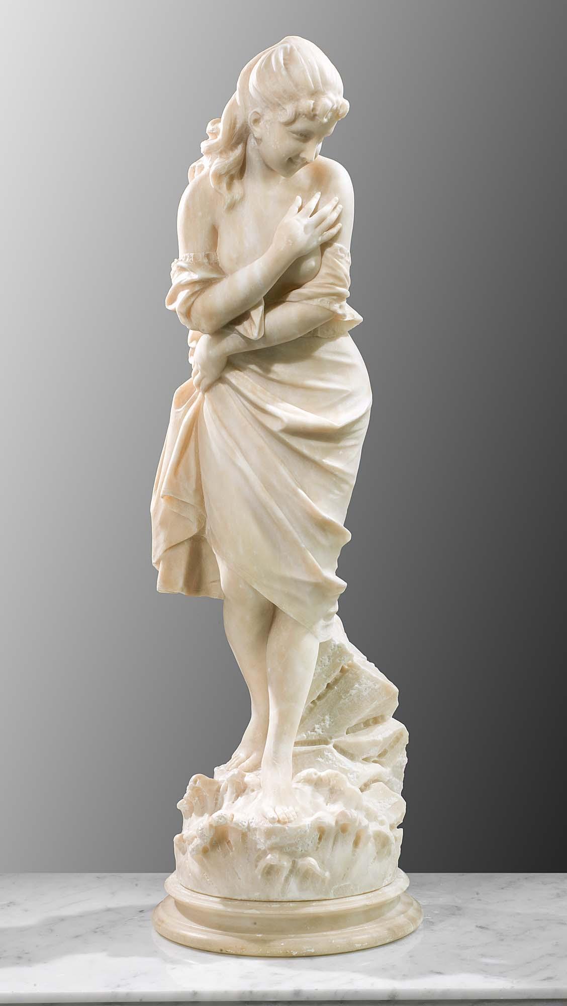 Italian Alabaster Figure Statue Westland London