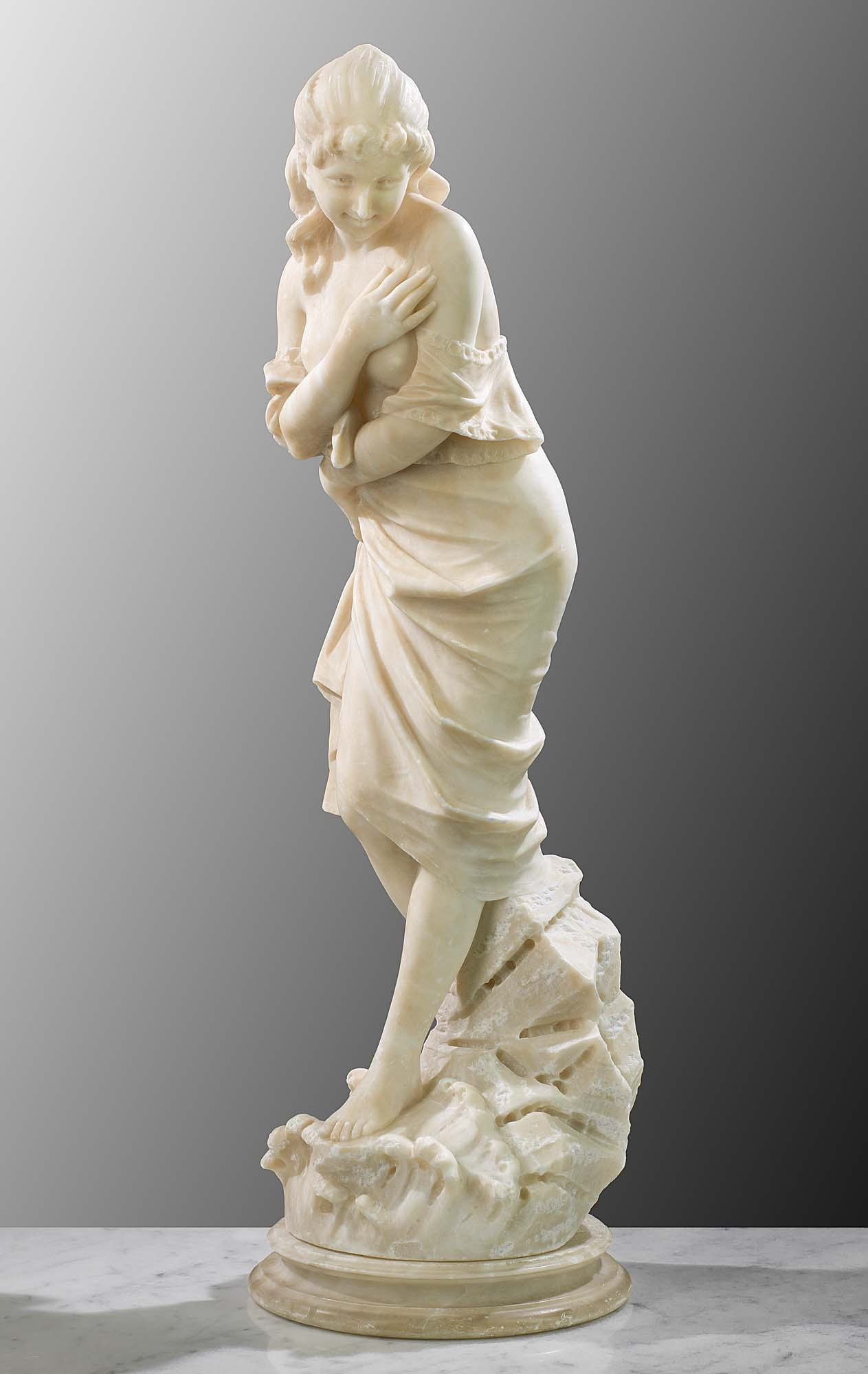 Italian Alabaster Figure Statue Westland London