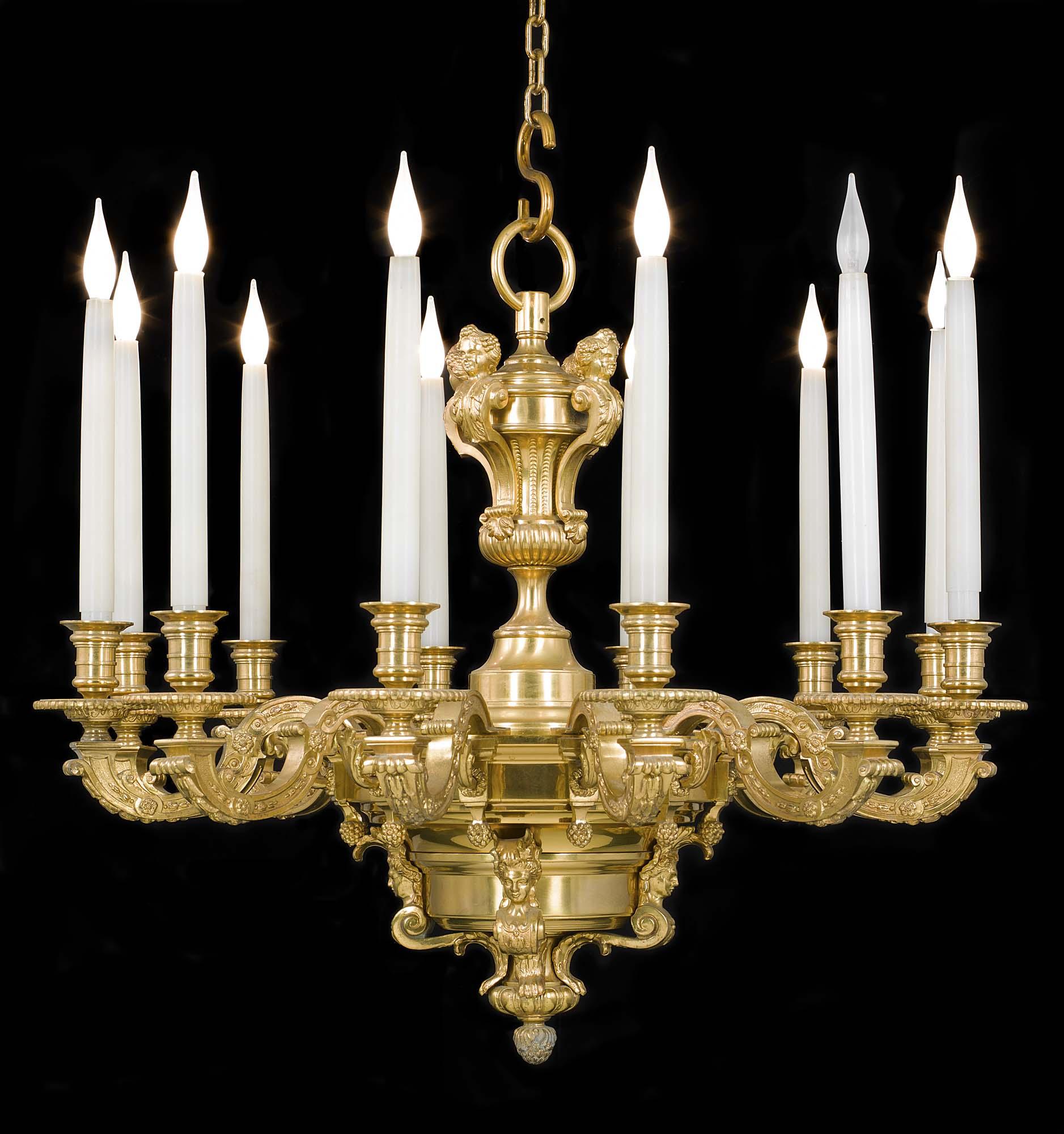 Baroque gilt brass victorian chandelier westland london ornate gilt brass baroque style victorian antique chandelier mozeypictures Choice Image