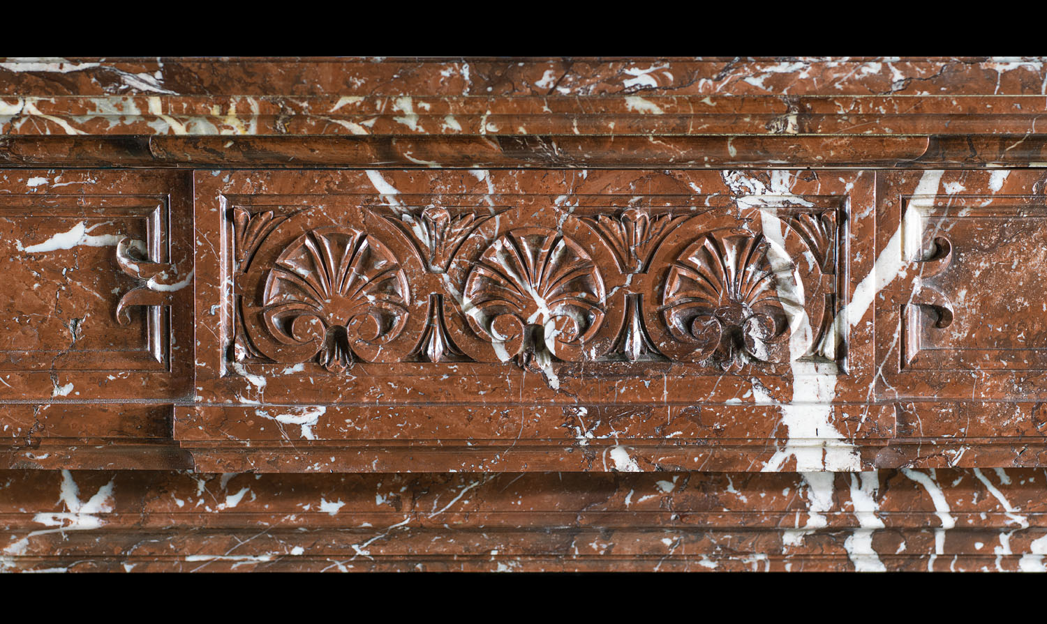 Belgian Red Marble Antique Victorian Fireplace Westland