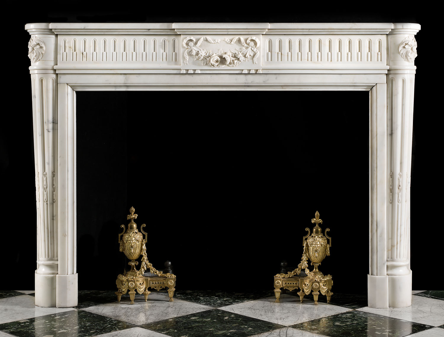 French Louis Xvi Statuary Marble Fireplace Westland London