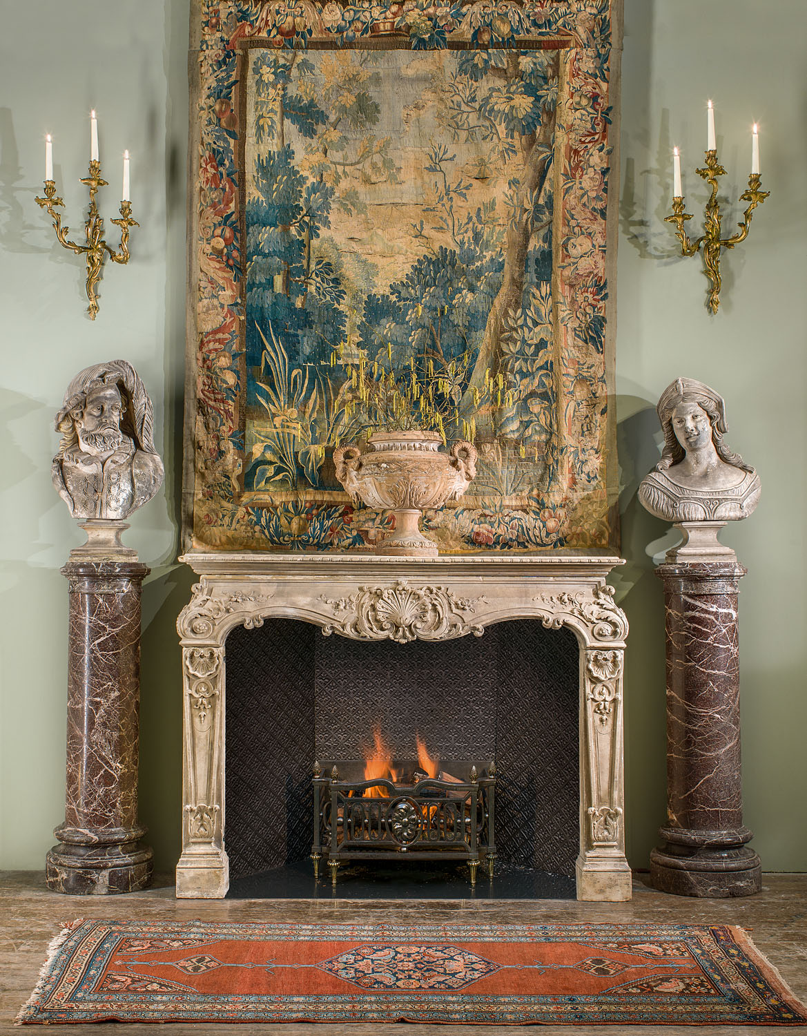 Rococo Stone French Antique Fireplace Westland London