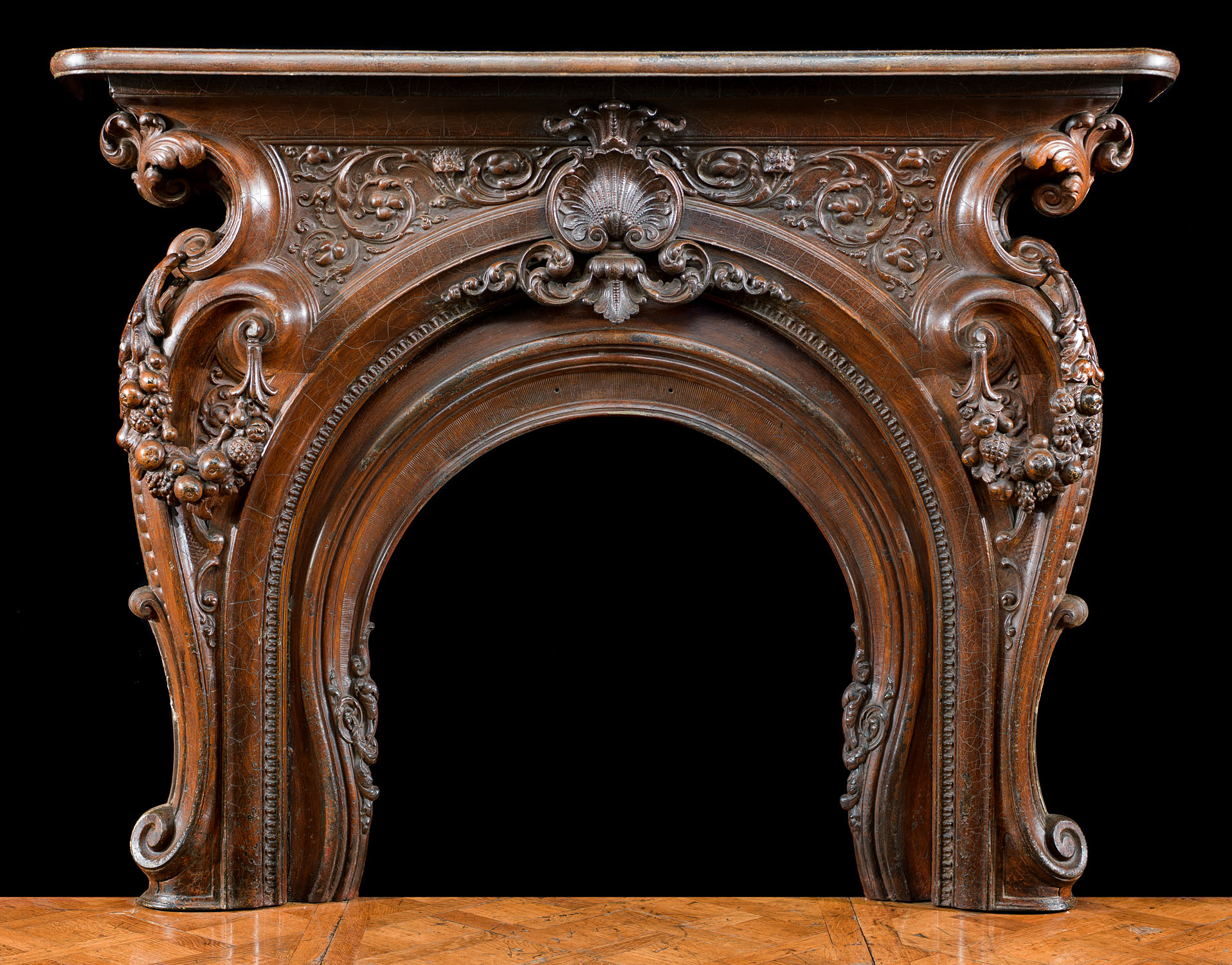 Victorian Cast Iron Rococo Fireplace Mantel Westland London